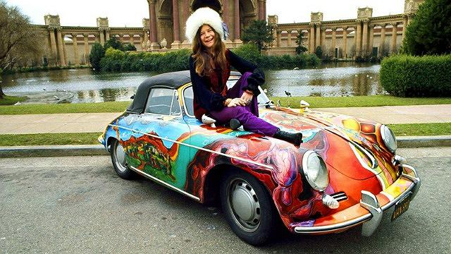 festival express Janis-Joplin-Porsche-356
