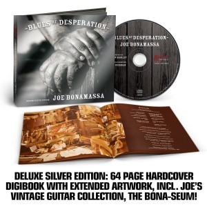 joe bonamassa blues of desperation deluxe silver edition 64 page hardcover