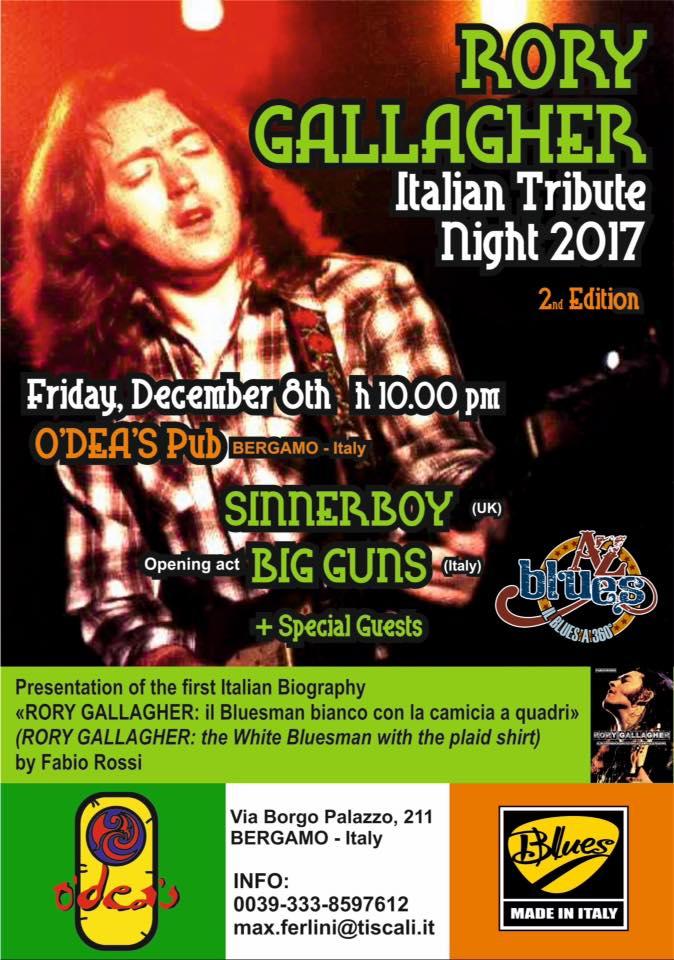 Se Eravate Dei Fans (Ma Anche No) Si Prevede Una Bella Serata. Rory Gallagher Italian Tribute Night 2nd Edition: Odea's Pub Bergamo, Venerdì 8 Dicembre 2017