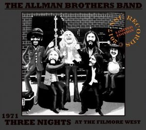 allman brothers three nights at fillmore west
